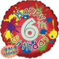 6th Birthday 18 Inch Foil Balloon