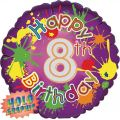 8th Birthday 18 Inch Foil Balloon