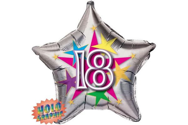 18th Stellar Fun 22 Inch Foil Balloon