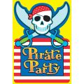 Pirate Party Invitations (pack quantity 8)