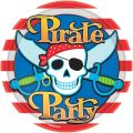 22.8cm Plate Pirate Party (pack quantity 8)