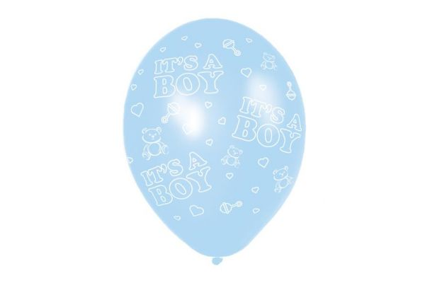 11 Inch  It's A Boy Balloons (packquantity6)