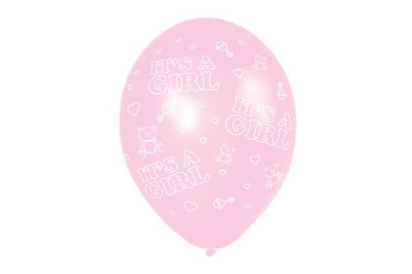 11 Inch It's A Girl Balloons (packquantity6)