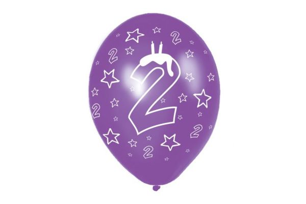 11 Inch 2nd Birthday Balloons (packquantity6)