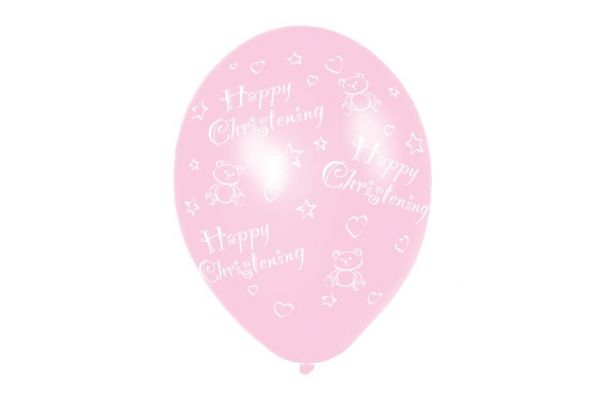 11 Inch Girl Christening Balloons (pack quantity 6)