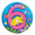 Age 6 Mermaid Big Badge