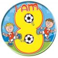 Age 8 Footballers Big Badge