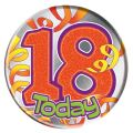 18th Birthday Streamers Big Badge