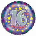 16th Birthday 18 Inch Foil Balloon
