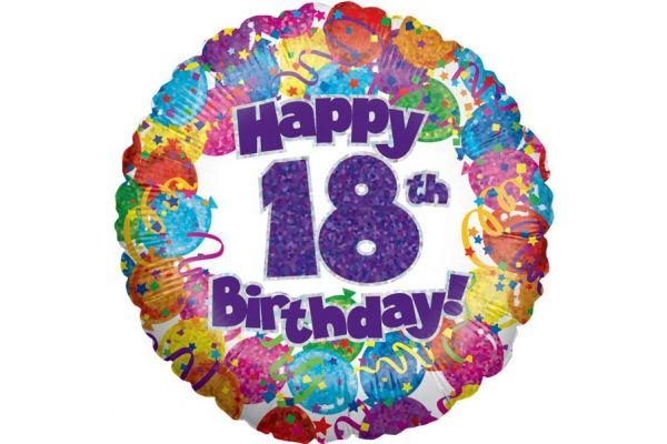 18th Party 18 Inch Foil Balloon