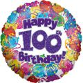 100th Party 18 Inch Foil Balloon