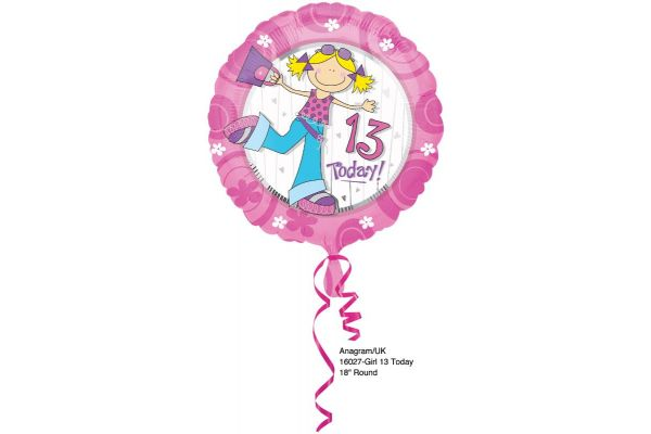 13 Today 18 Inch Foil Balloon