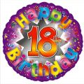 Pizzazz 18th 18 Inch Foil Balloon