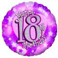 Pink 18th 18 Inch Foil Balloon