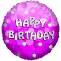 Sparkle Pink Birthday 18 Inch Foil Balloon