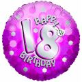 Sparkle Pink 18th 18 Inch Foil Balloon