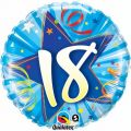 18th Birthday Blue 18 Inch Foil Balloon