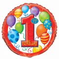 1st Birthday Balloons 18 Inch Foil Balloon